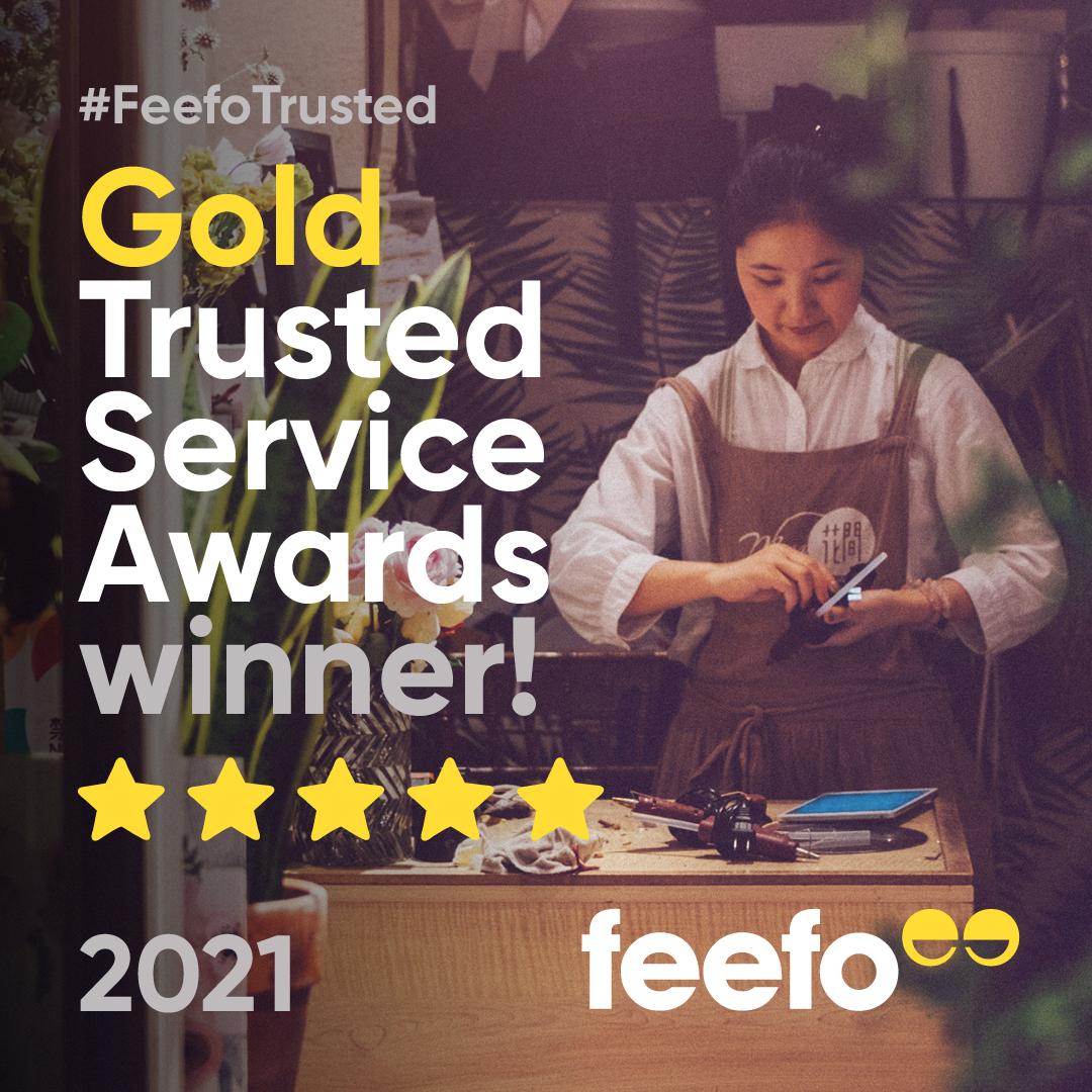 Feefo Gold Trusted Reward