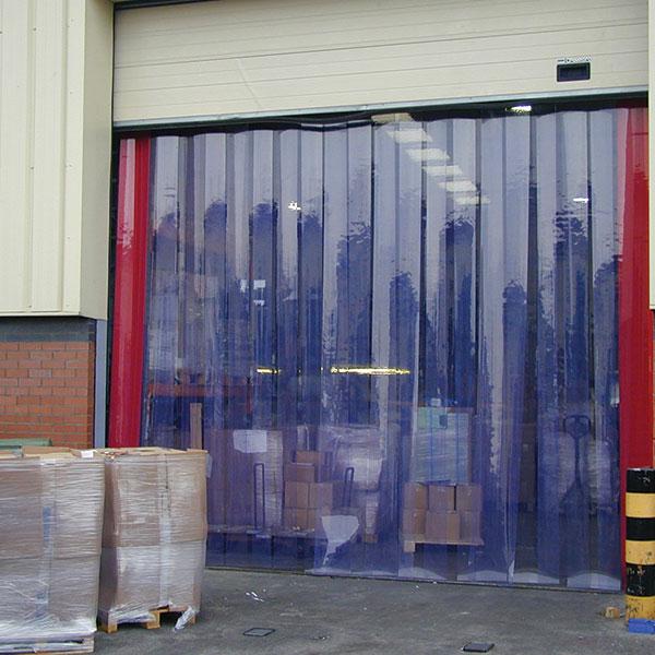 Plastic strip curtains for garage door